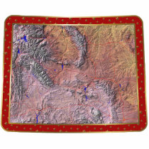 Wyoming Map Christmas Ornament Cut Out