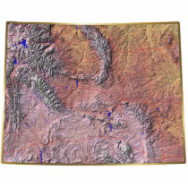 Wyoming Map Magnet Cut Out