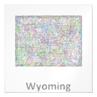 Wyoming map magnetic card