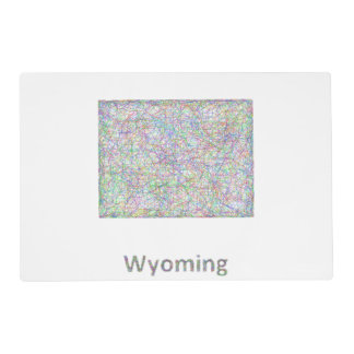 Wyoming map placemat