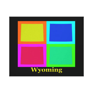 Wyoming Map Silhouette Canvas Print