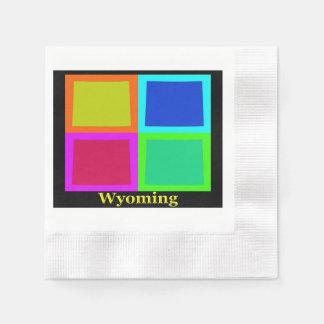 Wyoming Map Silhouette Napkin