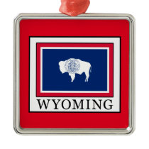 Wyoming Metal Ornament