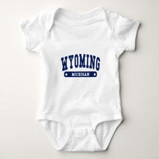 Wyoming Michigan College Style tee shirts