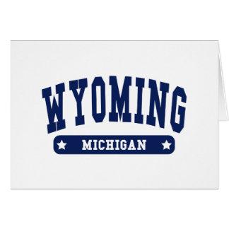 Wyoming Michigan College Style tee shirts Greeting Card
