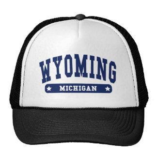 Wyoming Michigan College Style tee shirts Trucker Hat