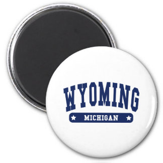 Wyoming Michigan College Style tee shirts 2 Inch Round Magnet