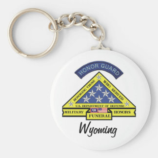 Wyoming Military Funeral Honors Keychain