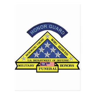 Wyoming Military Funeral Honors Postcard