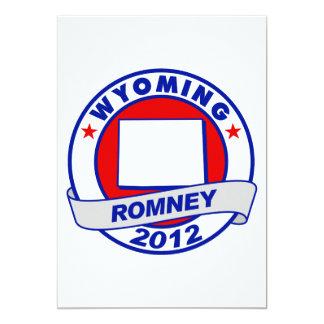Wyoming Mitt Romney 5x7 Paper Invitation Card
