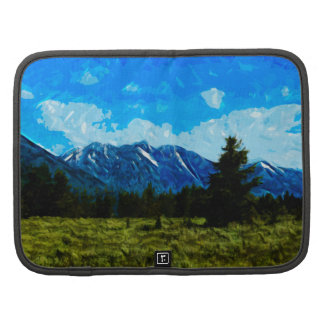 Wyoming Mountain Range Abstract Impressionism Organizers