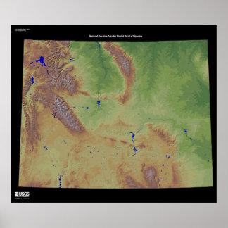 Wyoming NED Print