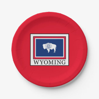 Wyoming Paper Plate