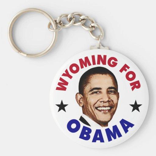Wyoming para Obama Llavero Personalizado