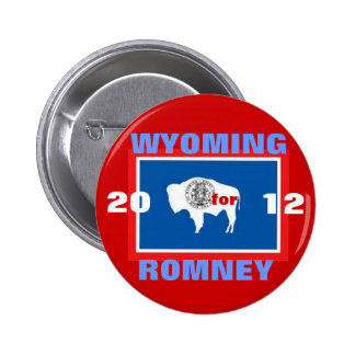 Wyoming para Romney 2012 Pin Redondo De 2 Pulgadas