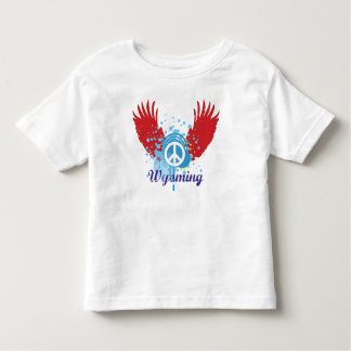 Wyoming Peace Sign T Shirt