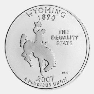 Wyoming Pegatina Redonda