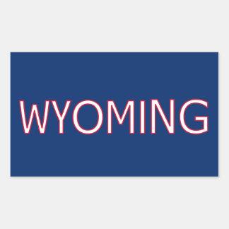 Wyoming Pegatina Rectangular