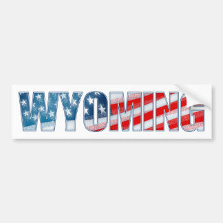 Wyoming Pegatina Para Auto