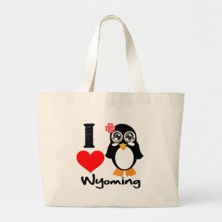 Wyoming Penguin - I Love Wyoming Tote Bag