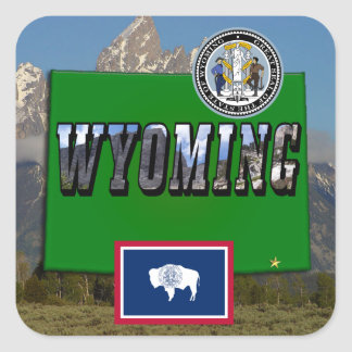 Wyoming Picture, Map, Flag and State Seal
