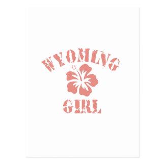 Wyoming Pink Girl Postcard