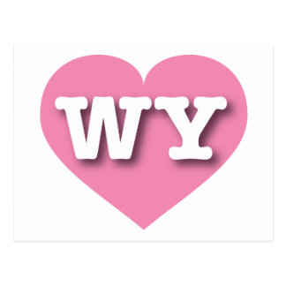 Wyoming Pink Heart - Big Love Postcard
