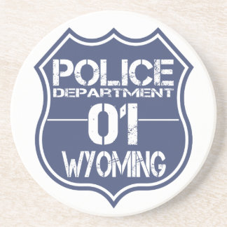 Wyoming Police Department Shield 01 Coaster