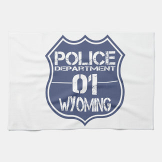 Wyoming Police Department Shield 01 Kitchen Towel
