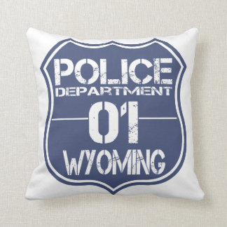 Wyoming Police Department Shield 01 Pillow