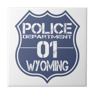 Wyoming Police Department Shield 01 Tile