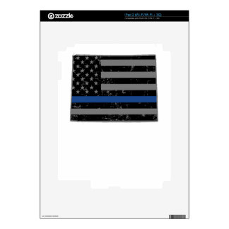 Wyoming Police & Law Enforcement Thin Blue Line iPad 2 Decal