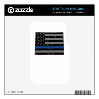 Wyoming Police & Law Enforcement Thin Blue Line iPod Touch 4G Skin