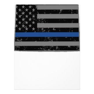 Wyoming Police & Law Enforcement Thin Blue Line Letterhead