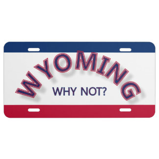 Wyoming porqué no placa placa de matrícula