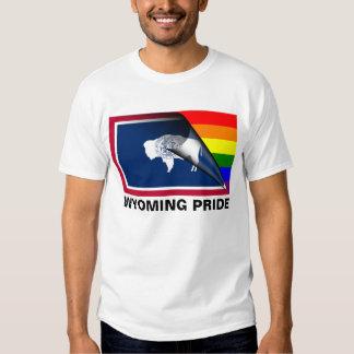 Wyoming Pride LGBT Rainbow Flag Tshirt