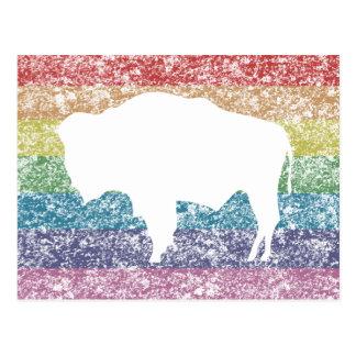 wyoming rainbow postcard