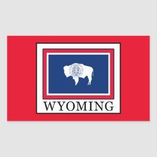 Wyoming Rectangular Sticker
