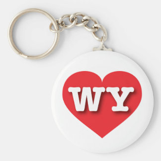 Wyoming Red Heart - Big Love Keychain