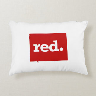 WYOMING RED STATE ACCENT PILLOW