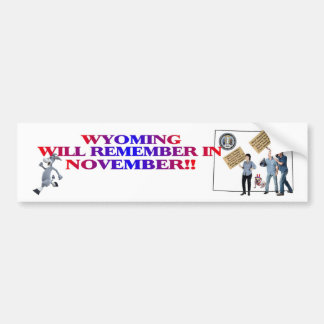 Wyoming - Return Congress to the People! Bumper Sticker