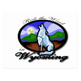 Wyoming ride the wind postcard