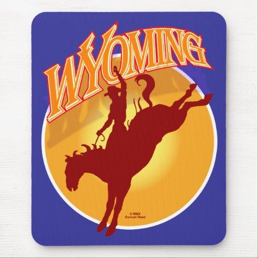 Wyoming rodeo sunrise mousepad