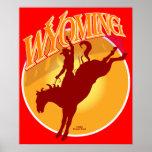 Wyoming rodeo sunrise poster