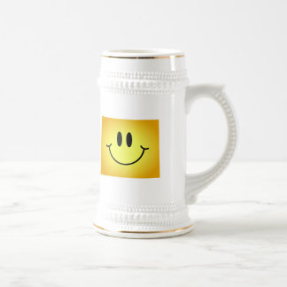 Wyoming Smiley Face 18 Oz Beer Stein
