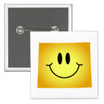 Wyoming Smiley Face Pins