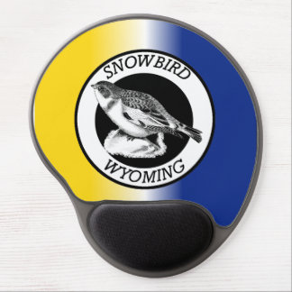 Wyoming Snowbird Shield Gel Mouse Pad