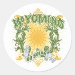 Wyoming solar pegatina redonda