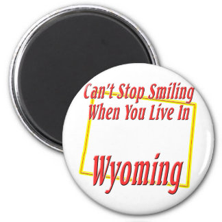 Wyoming - sonriendo imán de frigorifico