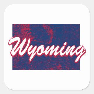 Wyoming Square Sticker
